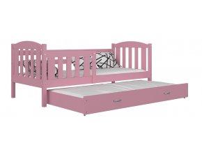 Lukács P2 ružová posteľ 190x80
