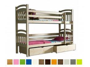 Paula 3 200x90 emeletes ágy tároló fiókkal