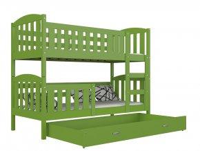 Kuba color 190x80 tömör emeletes ágy, zöld