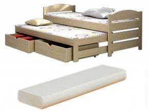 Veronika 9 200x90 ágy pótággyal