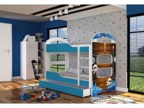 Patrik 2 180x80 emeletes ágy kék 4D