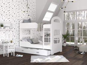 Patrik 160x80 Fehér emeletes ágyak