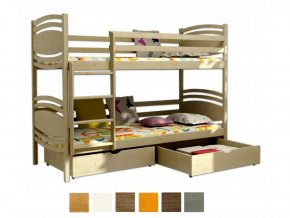 Paula 1 200x90 tömör emeletes ágy