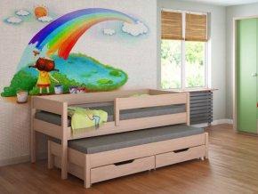 Gyerekágy pótággyal  Junior 180x80 többféle színben