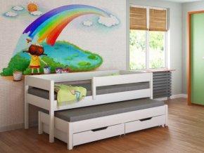 Gyerekágy pótággyal 200x90 Junior - többféle színben