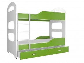 Patrik 180x80 Zöld emeletes ágy