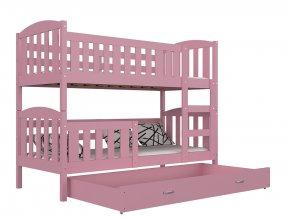 Lukács color 190x80 emeletes ágyak, rózsaszín