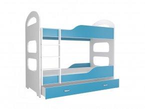 Patrik 180X80 emeletes ágy kék