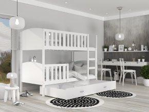 Denisz Fehér Color MDF emeletes ágy 190x80