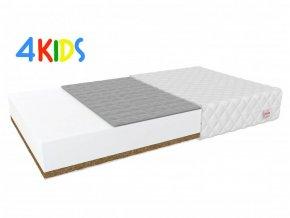 Matrac gyerekeknek hajdina/kókusz Bambino Console 180x90x8