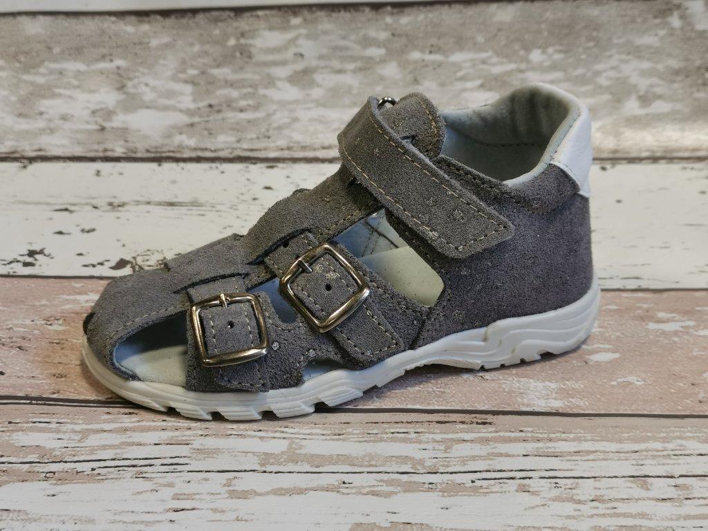 Letní sandálek Jonap 013S šedá třpitka