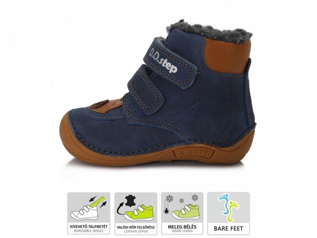 Zimní obuv D.D.Step 018-814 Royal Blue barefoot