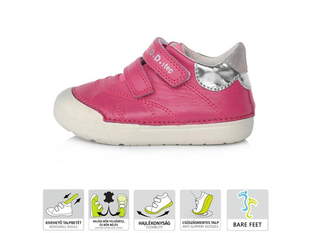 Celoroční kožená  Barefoot bota D.D.Step 066-56