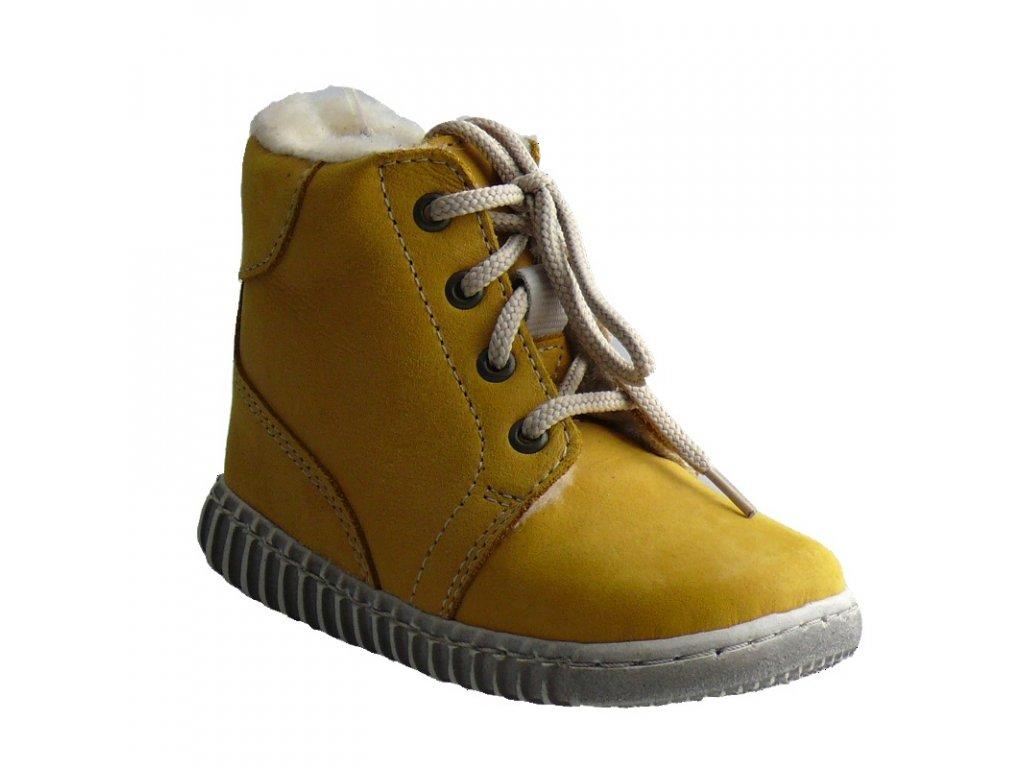 Zimní obuv Pegres 1705 žlutá