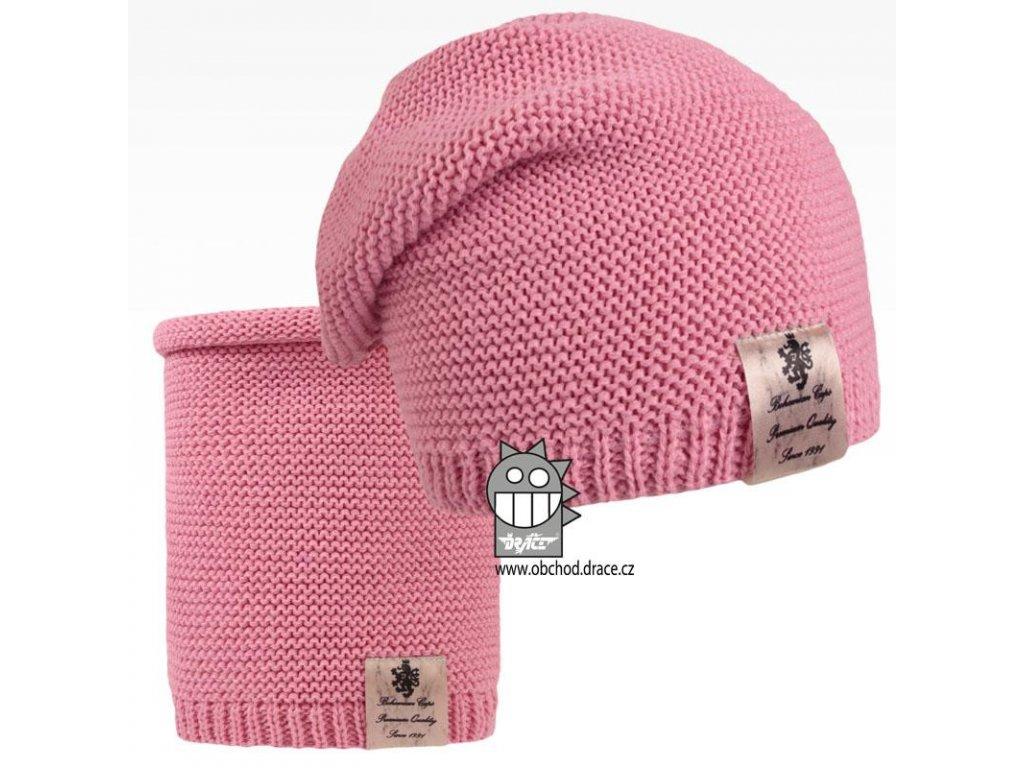 pletená set růžová