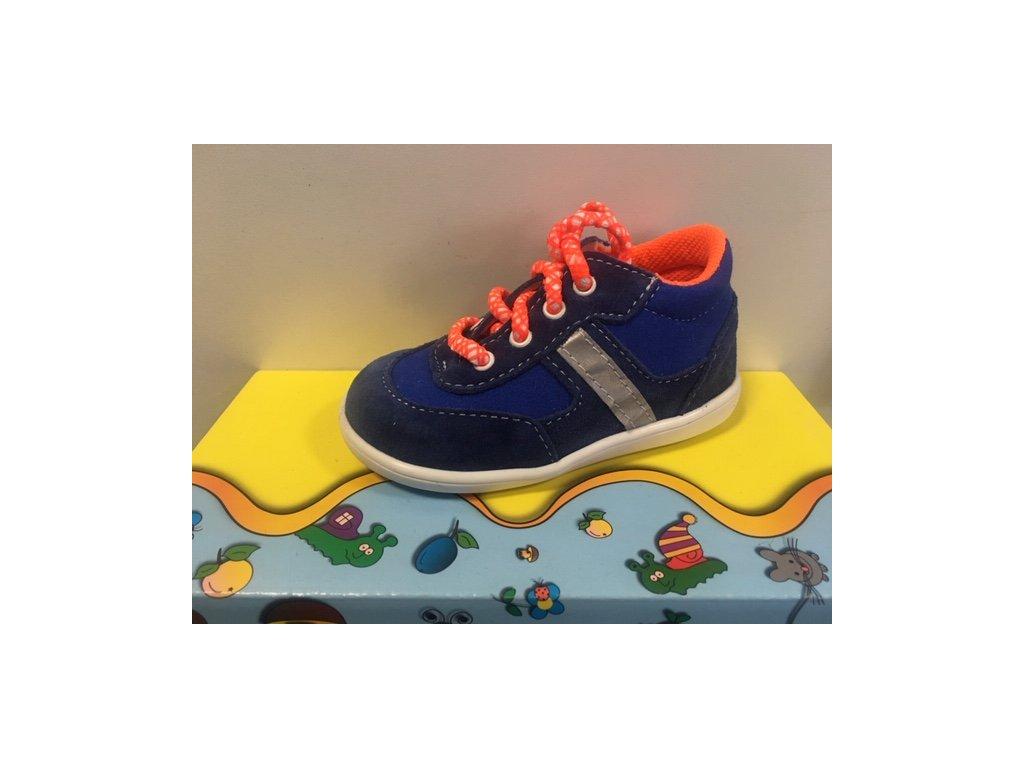 Celoroční kožená bota Jonap 051S modrá