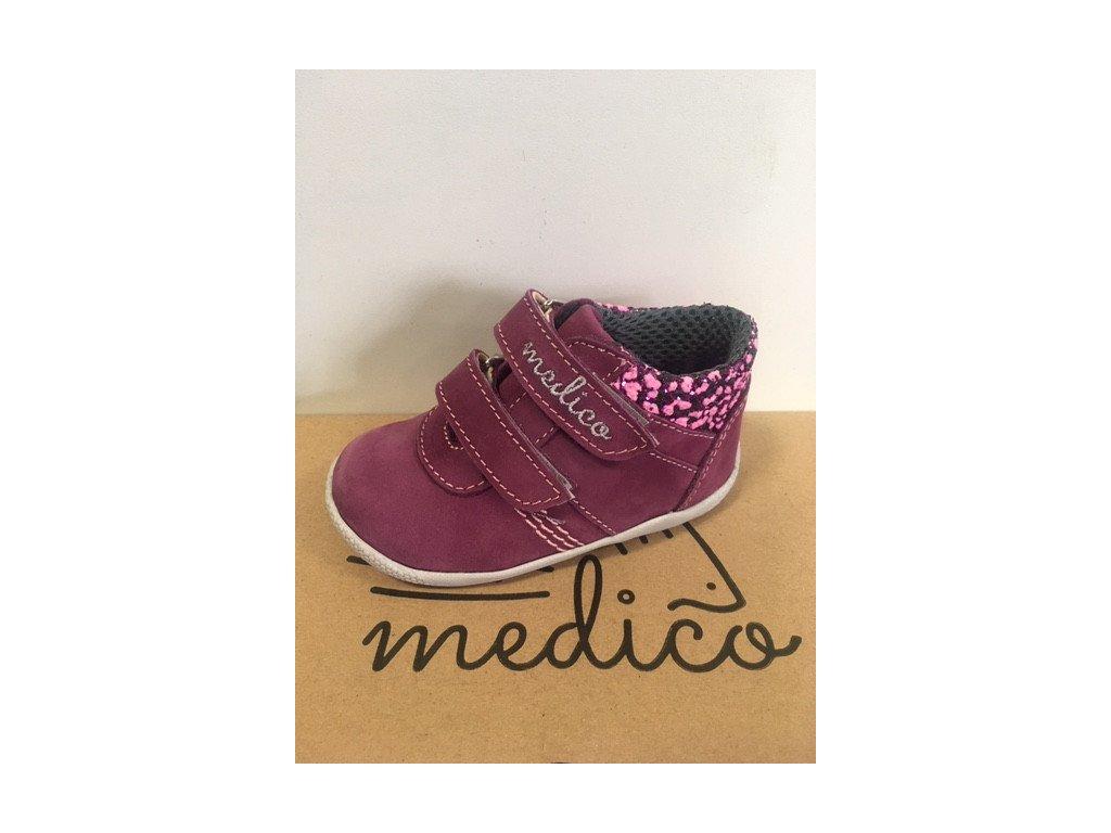 Celoroční kožená bota Medico Prevent EX5001 fuchsie