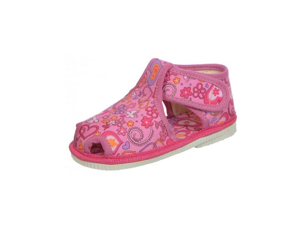 Dívčí domácí obuv, papučky Čechtín 805 suchý zip