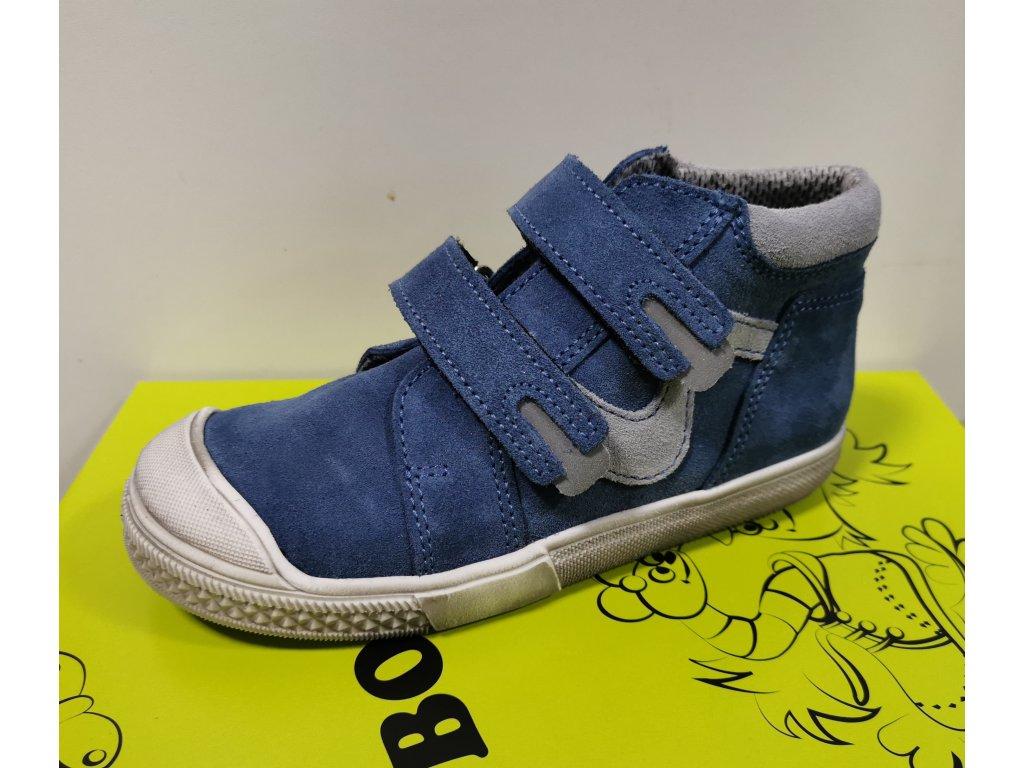 Celoroční kožená obuv Boots4u T316V sv. modrá