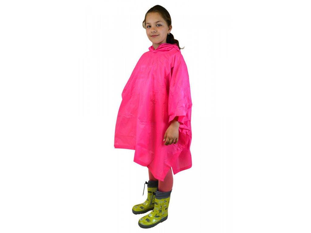 Poncho Pidilidi PL0066-03 Neon růžová