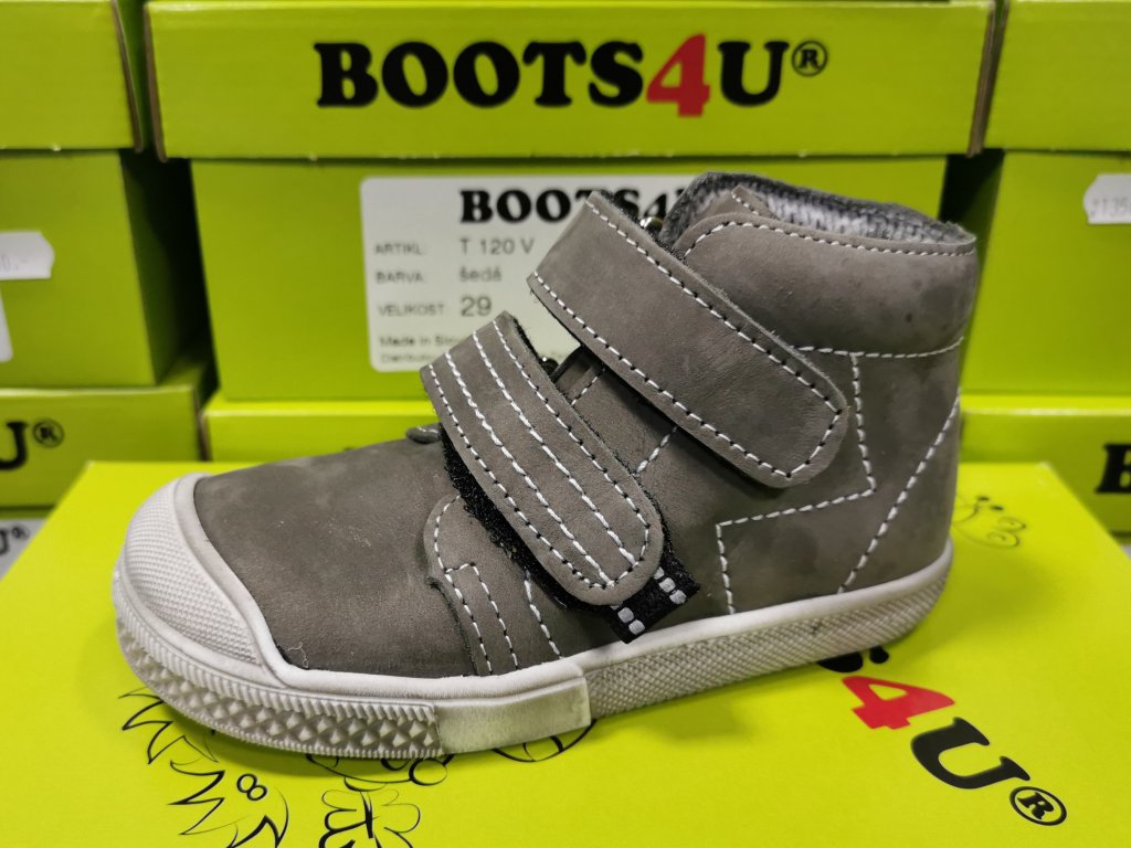 Celoroční obuv Boots4u T120V šedá