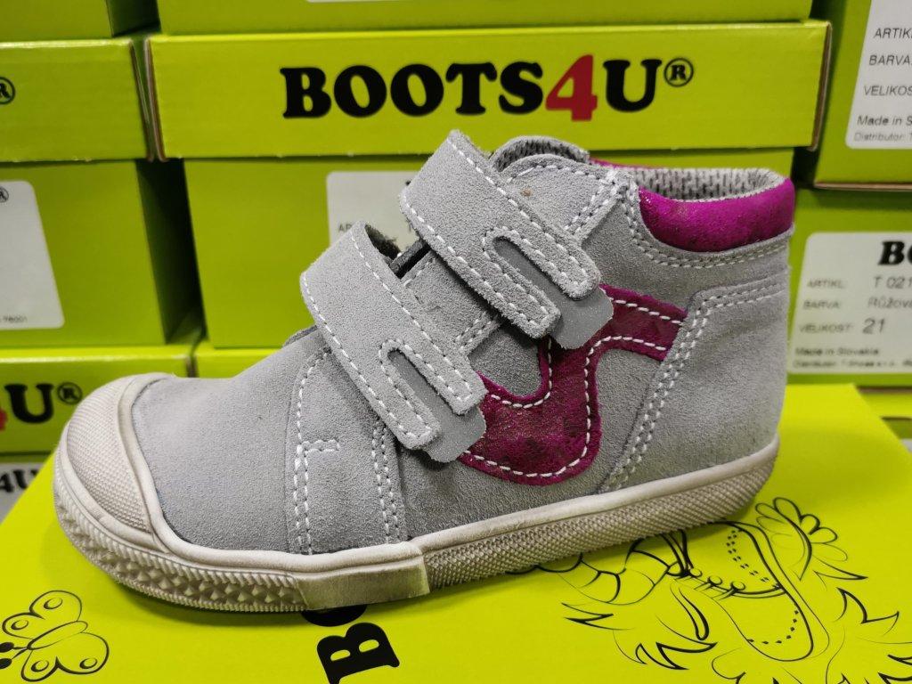 Celoroční obuv Boots4u T316V sv. šedá
