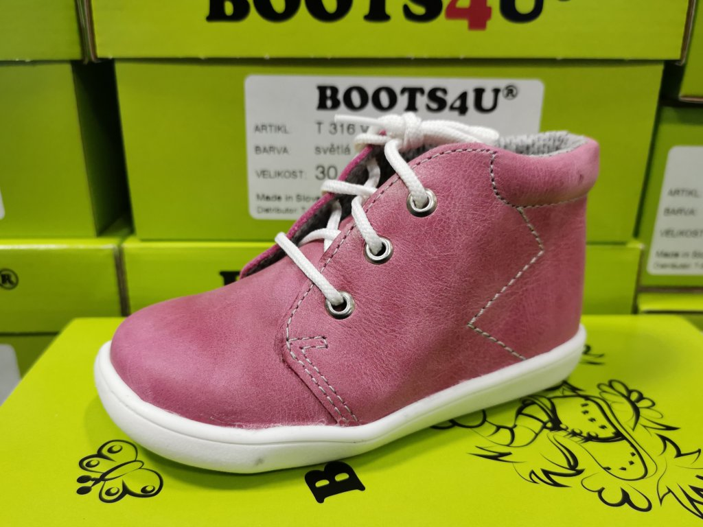 Celoroční obuv Capáčky Boots4u T021 růžová