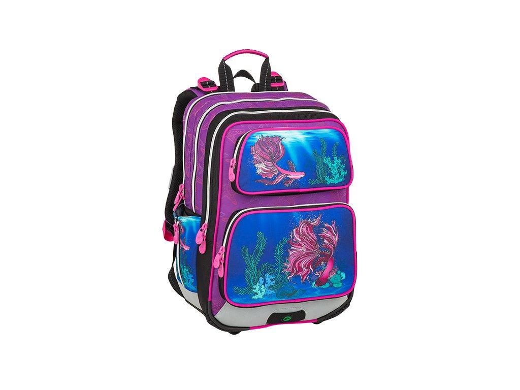 Školní batoh pro prvňáčky BAGMASTER GALAXY 9 C VIOLET/BLUE