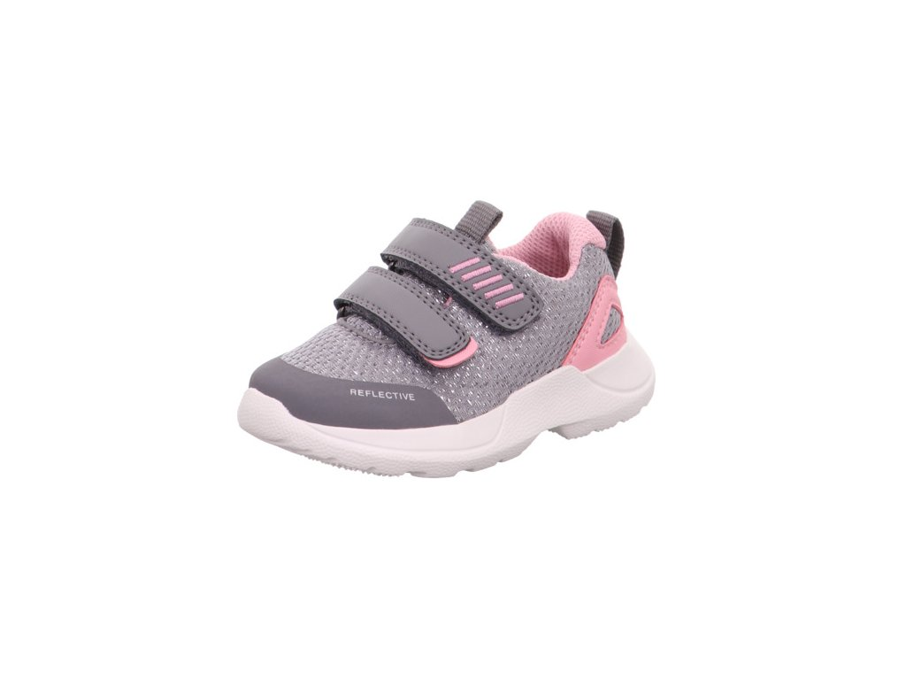 Celoroční obuv teniska Superfit Rush 0-609207-2600 hellgrau/rosa