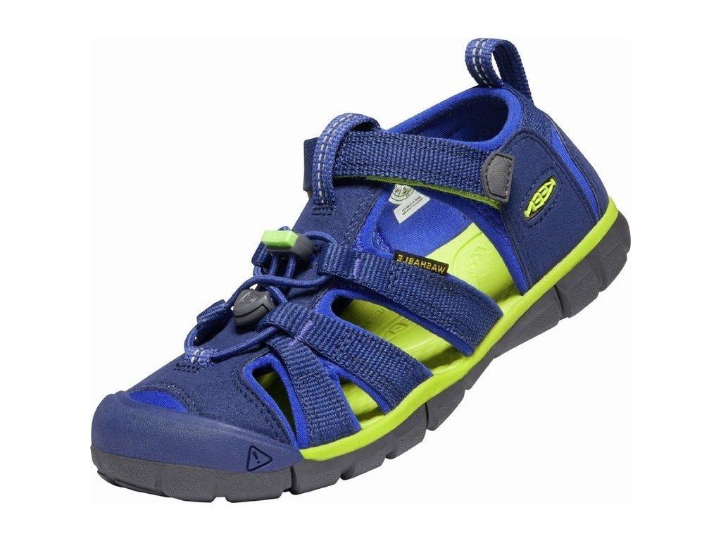 Letní sandálky KEEN Seacamp II 1022993 Blue depths/chartreuse