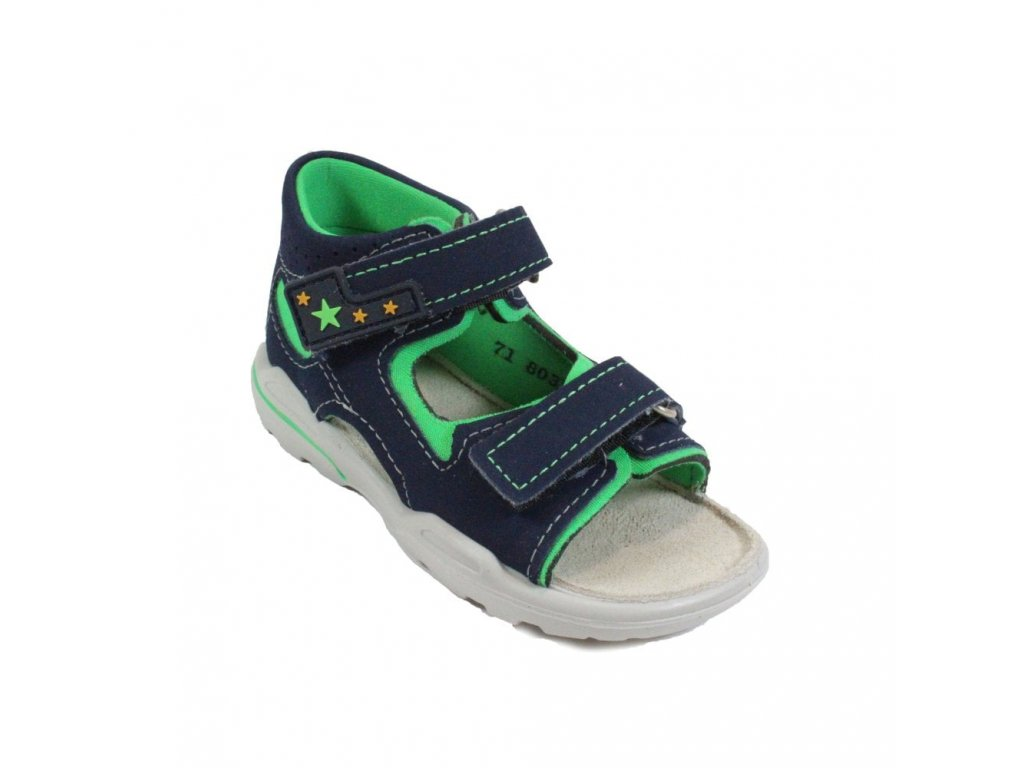 ricosta manto 3223900 171 navy leather boys rip tape sandals p20743 92452 image