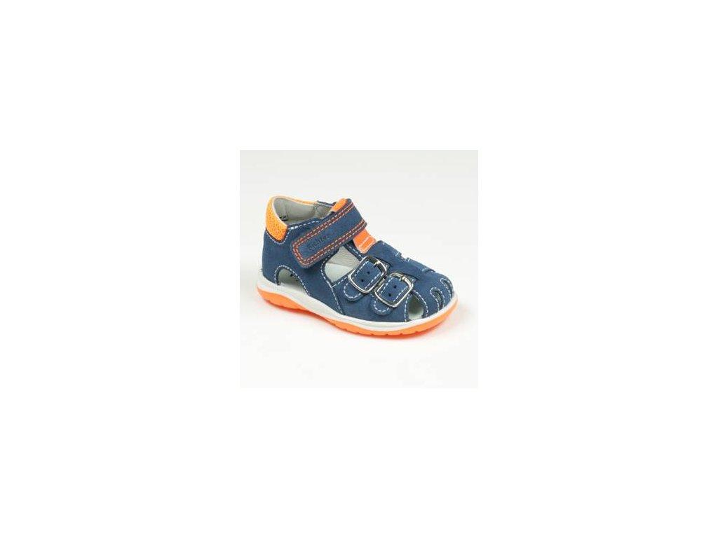 Letní sandálky Richter 2602 1112 6831 blue/neon orange