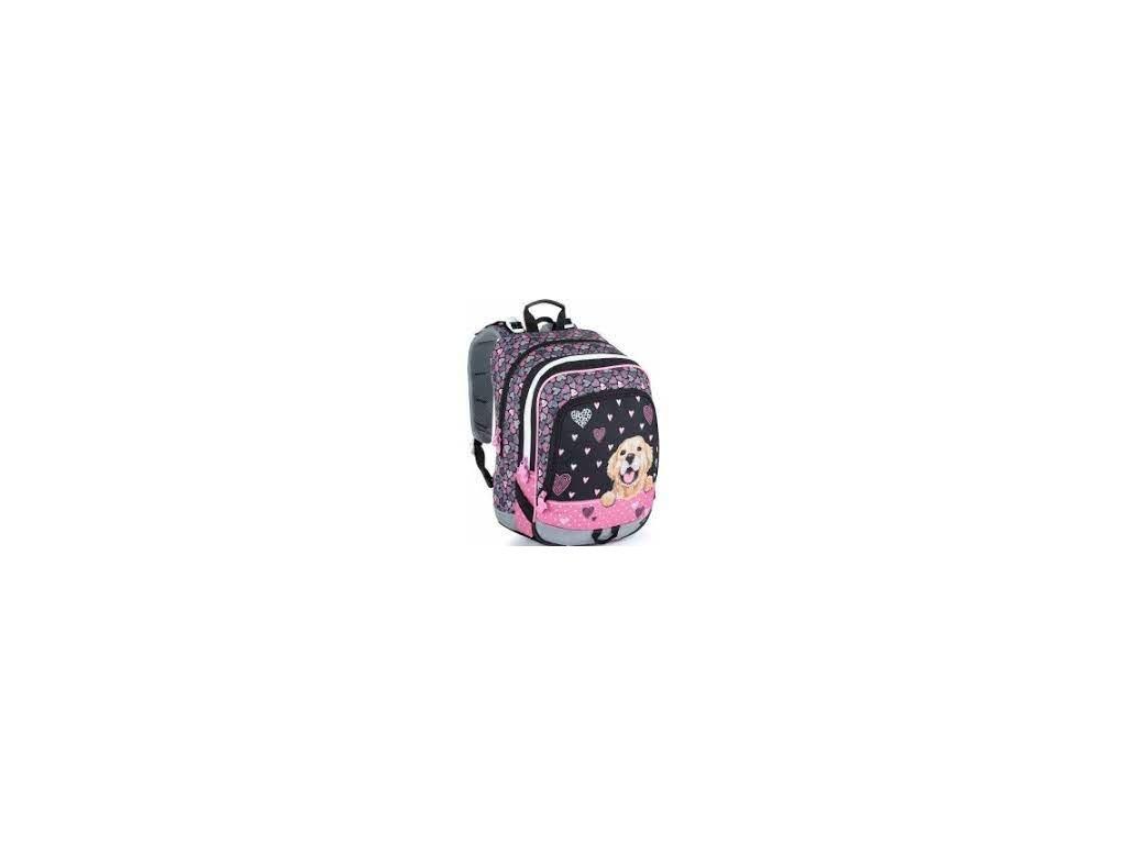 Školní batoh pro prvňáčky ALFA 21 A BLACK/PINK