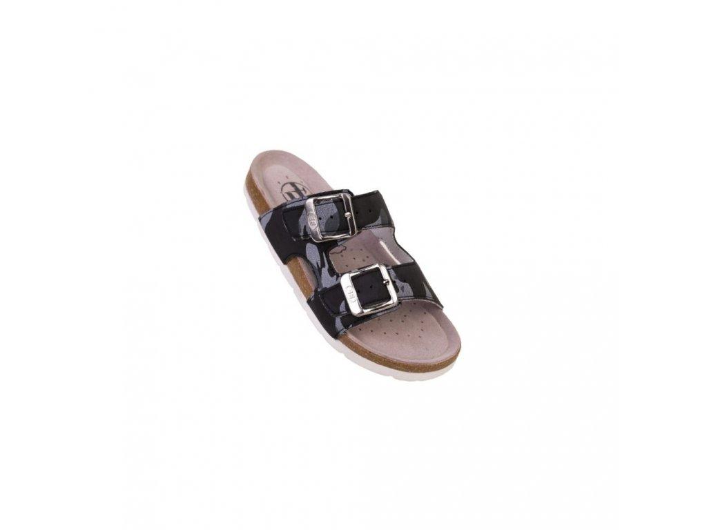 BF domácí obuv/pantofle BY513-16-98 černý maskáč