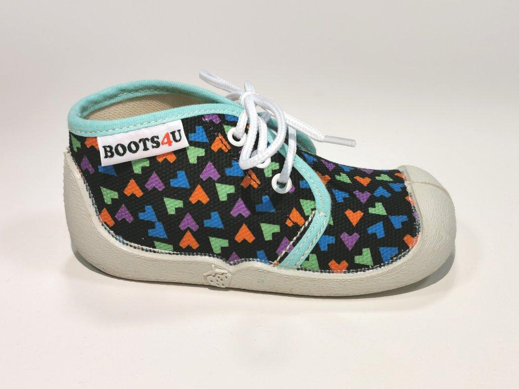 Boots4u teniska T015 modrá potisk