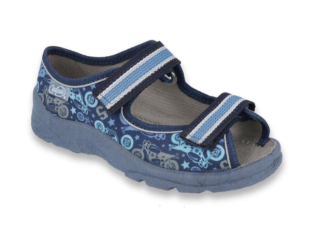 30988 1 969x159 25 chlapecke sandalky befado modre moto