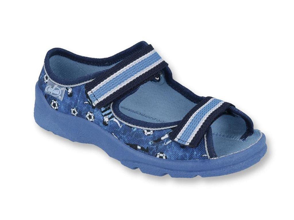 26084 1 969y141 31 chl sandalek s patou modry fotbal