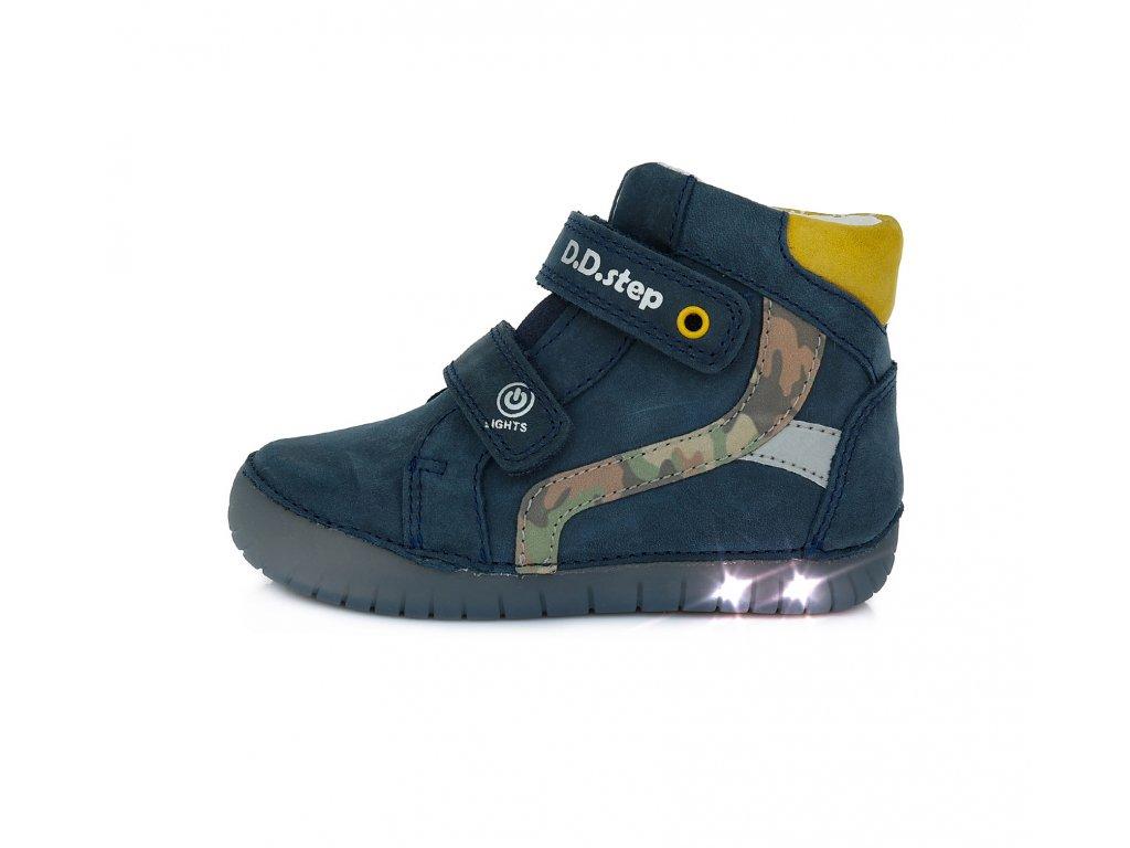 Celoroční obuv D.D.Step A049-944L Royal blue blikací