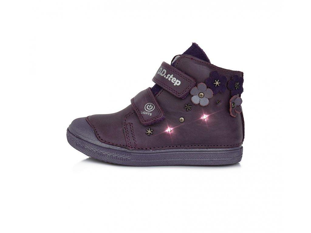 Celoroční obuv D.D.Step A049-885M violet blikací