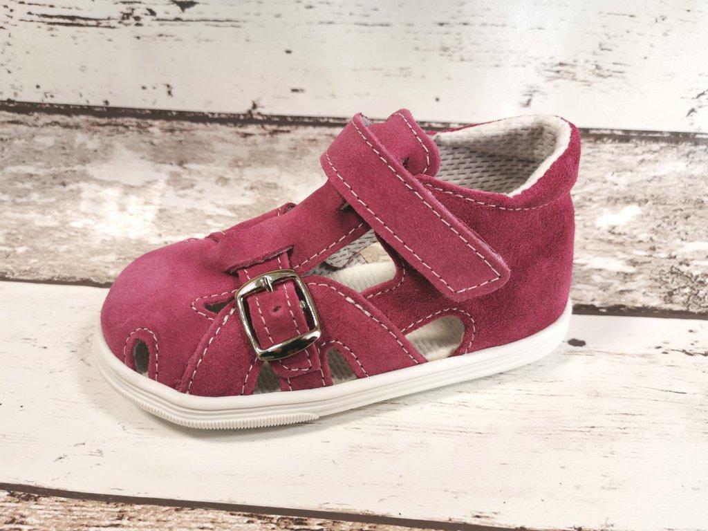 Letní kožený sandálek Jonap 009S růžová