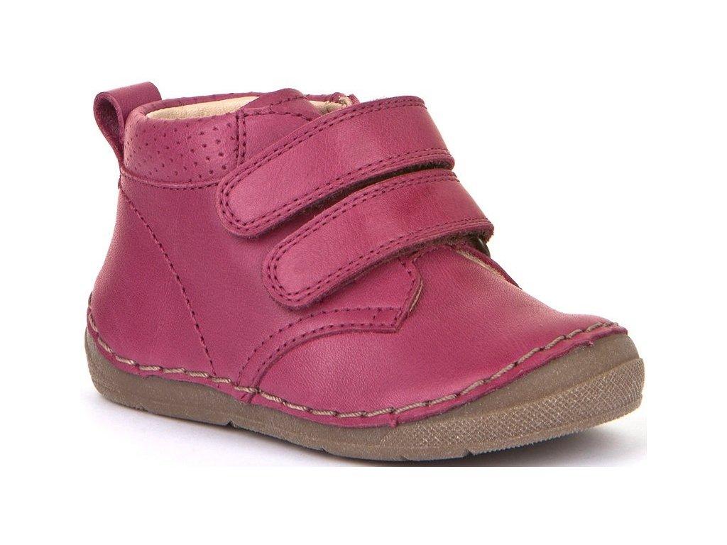 Celoroční kožená Barefoot bota Froddo G2130175-1 Fuchsia