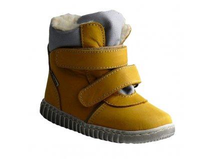 0080546 pegres 1706 detske zimni boty zlute