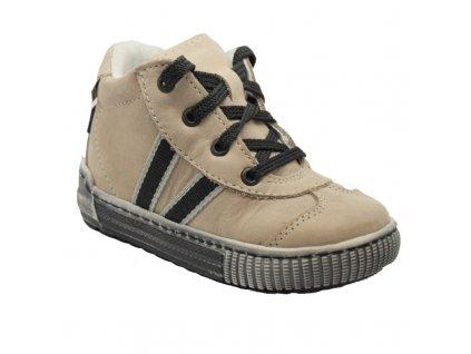 Celoroční kožená bota Pegres E1401 capucino