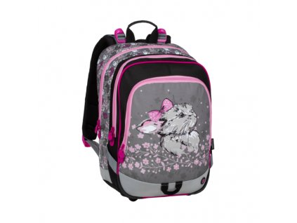 Školní batoh pro prvňáčky ALFA 20 B PINK/GRAY/BLACK