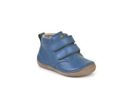 Celoroční kožená Barefoot bota Froddo G2130175-1 Jeans