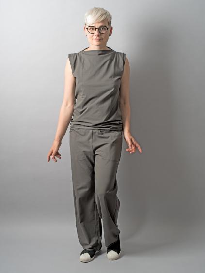 Volne kalhoty PLACEBO khaki
