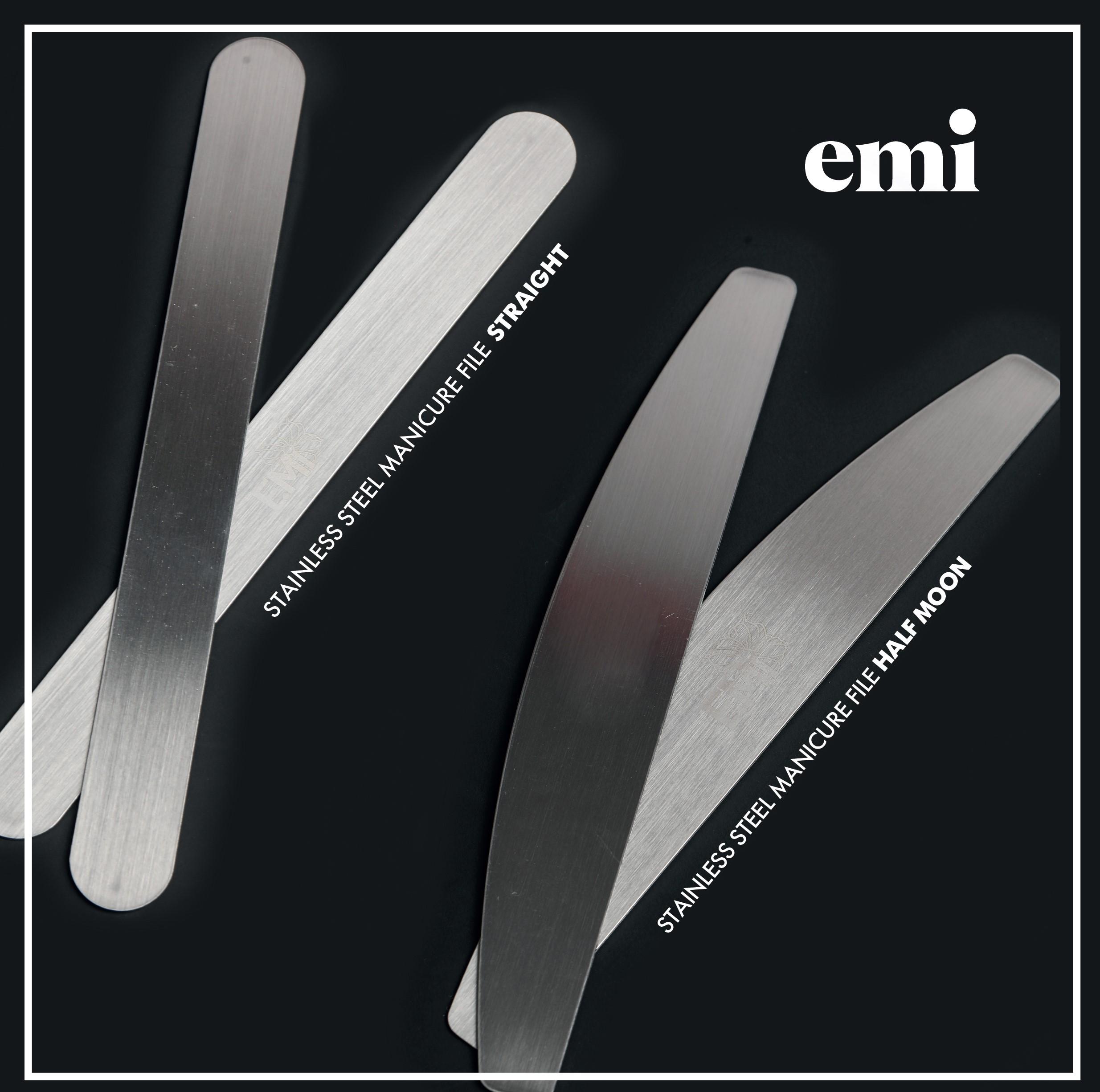 Nerezový pilník na nehty Straight s jednorázovými výměnnými pilníky
