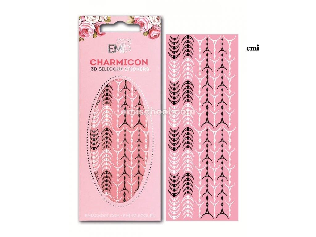 Charmicon 3D Silicone Stickers Lunula #34 Black/White