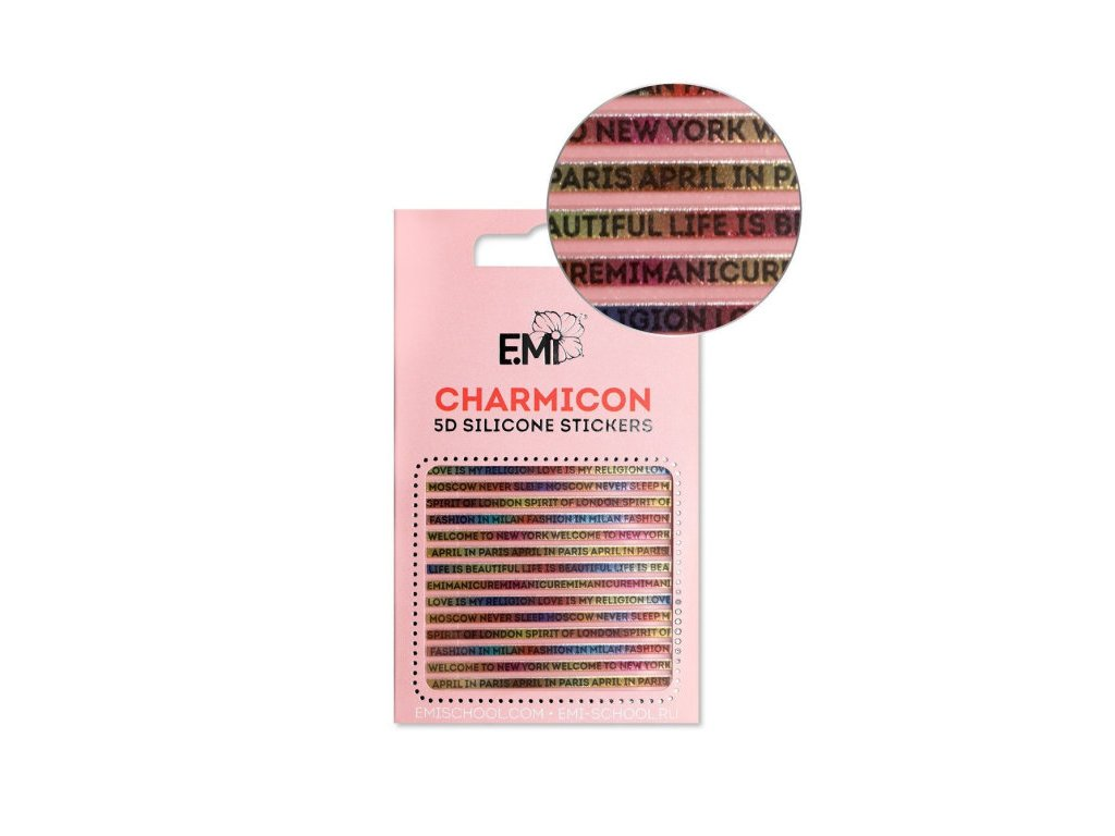 Charmicon 3D Silicone Stickers #103 Words
