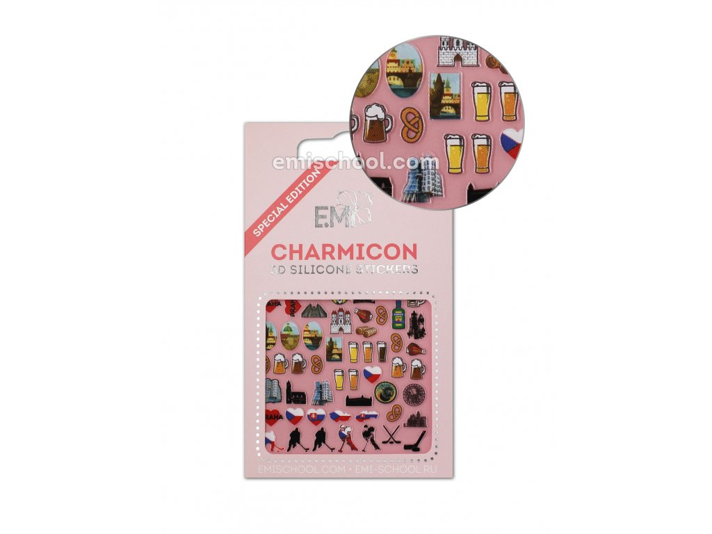 Charmicon 3D Silicone Stickers Czech 2